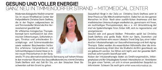 Gesund und voller Energie Ganz neu in Timmendorfer Strand - MitoMedical Center